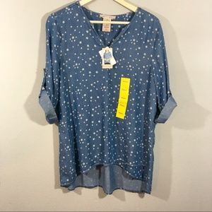 Philosophy Chambray Top NEW! NWT